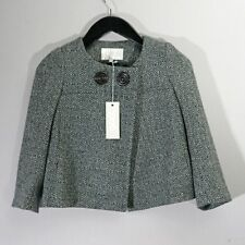 Chèvre court veste tweed gris 8