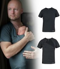 Kangaroo Men Skin to Skin Bonding Care T-shirt for DAD Cotton