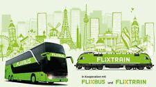 Paypal mögl. FlixBus / FlixTrain Freifahrt Gutschein europaweit / Deutschland