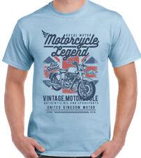 Motorcycle Legend Mens British Motorbike T-Shirt Bike Biker Union Jack Flag UK