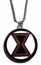 """Marvel Comics BLACK WIDOW Logo Pendant Necklace with 20"""" Chain"""