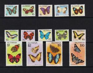 Guyana - 1978 Butterfly set, mint, cat. $ 36.00