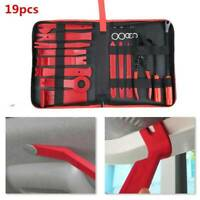 19pc Car Trim Removal Tool Door Molding Dash Panel Audio Pry Tool Kit Clip Plier