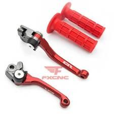For Honda CR125R CR250R 1992-2003 2004-2007 Pivot Brake Clutch Levers Grips Logo