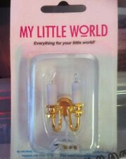 1:12th Scale Miniature My Little World 2 Arm Candle Wall Light