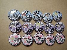 "Cutie Girls Nurse RN Medical 1"" Craft Circles Flat-back Button Embellishments"