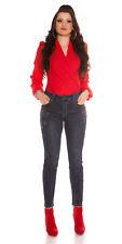 Hose Jeans Hose Curvy Girls Size 40 Sexy KouCla mit Strassblumen