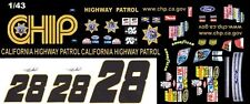 #28 Travis Kvapil CHP Ford 2008 1/43rd Scale Slot Car Waterslide Decals