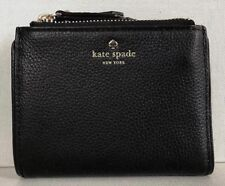 New Kate Spade small Malea Larchmont Avenue Leather wallet Black