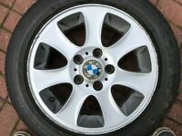 "BMW 1 SERIES 16"" STYLE 151 ALLOY WHEEL & TYRE E81 E82 E87 E88 6769402 7Jx16 IS44"