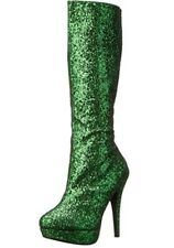 Green Glitter Poison Ivy Tinker Bell Halloween Costume GoGo Boots size 8