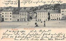 Sebnitz Sachsen Markt Ostseite Postkarte 1901