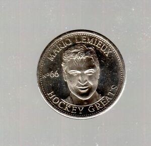 NHL 1996-97 Hockey Greats Coin #66 - Mario Lemieux