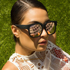 NEW QUAY On The Prowl Black/Pink Mirror Sunglasses
