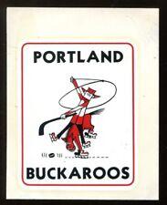 1960s Vintage Portland Buckaroos WHL Hockey 3x3.5 Decal Very Rare 43563