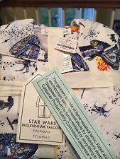NWT Pottery Barn Kids Size 4 Star Wars Millennium Falcon Flannel Pajamas