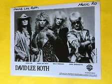 David Lee Roth Press Photo 8x10, Steve Vai, Billy Sheehan, Wb Records 1986.
