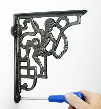 Pair Of Cast Iron Cherub Design Ornate Wall and Shelf Brackets