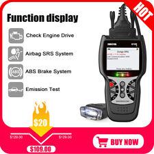 ABS SRS Airbag Reset OBD2 Auto Code Reader Diagnostic Scanner Battery Alternator