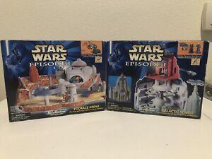Star Wars Micro Machines Galactic Senate & Podrace Arena - Brand New