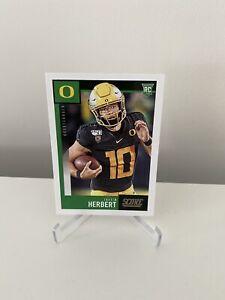 Justin Herbert Rookie Card RC Panini Score Football 2020 Oregon #362 NFL Card