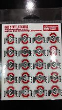 OHIO STATE BUCKEYES STICKERS 20 PER SHEET SCRAPBOOKING ACID FREE