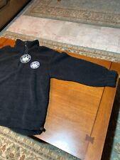 NWT NORTH PEAK Men's Storm Proof Gear 1/4 Zip Polar Fleece, Large Black Vintage