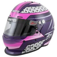Zamp RZ-62 Pink/Purple Graphic Helmet Snell SA2020 (All Sizes)