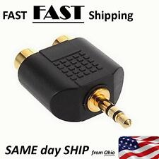 TABLET --to-- HOME STEREO RCA Adapter --- GOLD Plated ---- FAST SHipping