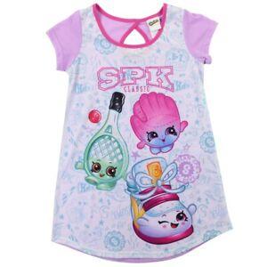 SH39 Girls Shopkins Nightie Nightdress CAN BE PERSONALISED Sizes 2-8Yrs