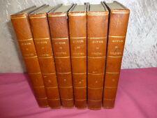 ŒUVRES DE MOLIÈRE 6/6 vols  avec un  tableau des mœurs du XVIIe siècle 1820