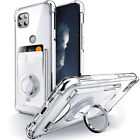 For Motorola Moto G 5G Moto One 5G Ace Case Card Holder & Ring Stand Clear Cover