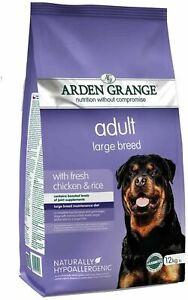 Arden Grange Adult Large Breed Fresh Chicken & Rice 12kg *Damage To Bag*