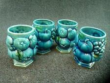 Vintage Inarco Japan Mood Indigo Cups Set Of 4 Beautiful (GS)