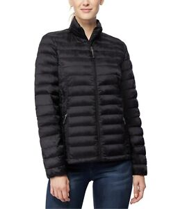 32 Degrees Womens Packable Down Puffer Coat Medium Black Jacket