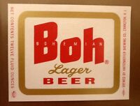 OLD USA BEER LABEL, HAFFENREFFER BREWERY CRANSTON RHODE ISLAND, BOH BEER 12 Oz 1
