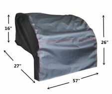 "BBQ CoverPro built-in grill cover up to 57"" Heavy Duty Drop In Cover Black"