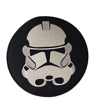 "Star Wars Stormtrooper Helmet Large Jacket Size 10""  Embroidered Iron On Patch"