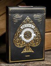 Artisan Black Deck Playing Cards Poker Size Theory 11 USPCC Limited Edition New