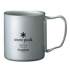 Snow Peak Titanium Double Wall Cup 300ml with Folding Handle F/S Japan +Tracking