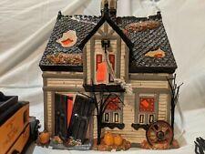 Dept. 56 Snow Village Halloween Creepy Creek Carriage House #55055