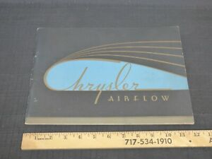 1934 Chrysler Airflow Car Catalog Dealer Sales Brochure RARE