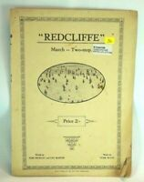 Vintage Sheet Music Redcliffe March Two Step Collectable