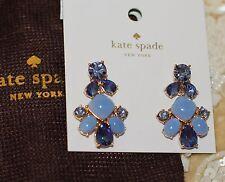 Kate Spade multi blue light royal cache palace gems DROP DANGLE EARRINGS CRYSTAL