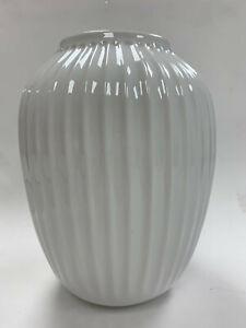 Pottery Barn Kähler Hammershoi Vase White Porcelain Medium