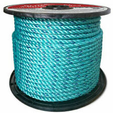 """Cwc Blue Steel Rope - 7/16"""" x 600 ft - Teal W/Dk Blue Tracer"""