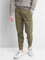 Gap Men Olive Utility Joggers with GapFlex size Large NWT RRP$90