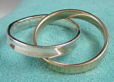 Tiffany & Co. 1837 Interlocking Circles 18K Yellow Gold & Sterling Silver Ring