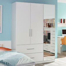 Kleiderschrank Manja Kinderzimmer Jugendzimmer Weiß Hochglanz B 136 cm