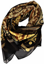 Sciarpa Unisex Marrone Nero Versace Scarf Unisex Brown Black